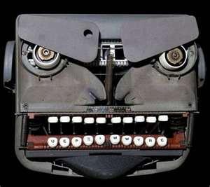 Angry typewriter