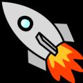 Rocket Ship-Nose Left