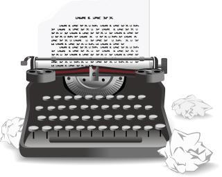 Typewriter-Wadded Paper