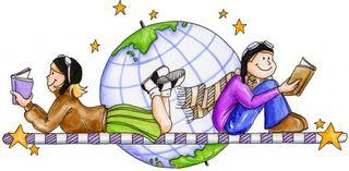 Reading-children & Globe