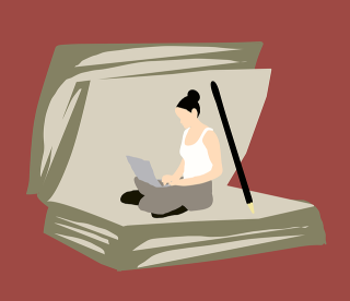 Reader Inside Book